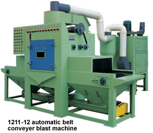 automatic belt conveyer blast machine 1211-12
